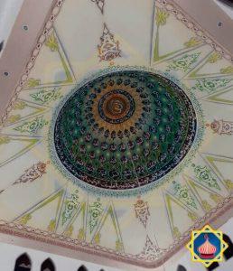 Plafon Kubah Airbrush Grafik Kaligrafi