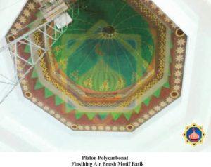 plafon airbrush motif batik sinarsuryaabadi