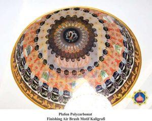 plafon airbrush motif kaligrafi sinarsuryaabadi